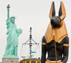 Anubis Times Square Exhibition